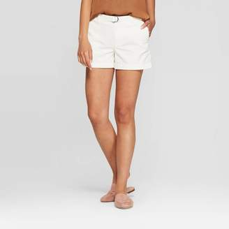 A New Day Women's Mid-Rise Belted Shorts