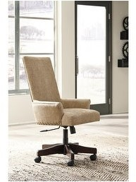 Signature Design by Ashley Baldridge Rustic Brown Casual Upholstered Swivel Desk Chair