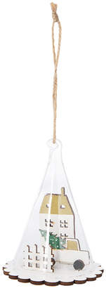 A By Amara A by Amara - Wooden House in a Glass Dome Tree Decoration
