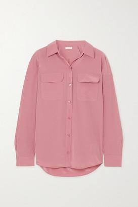 Equipment Slim Signature Washed-silk Shirt - Pink