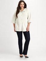 Eileen Fisher Eileen Fisher, Salon Z Silk/Cotton Knit Jacket
