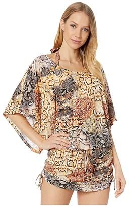 Luli Fama Skins South Beach Dress Cover-Up (Natural Snake) Women's Swimwear