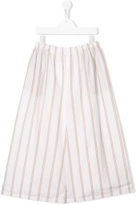 BRUNELLO CUCINELLI KIDS TEEN striped wide-leg trousers