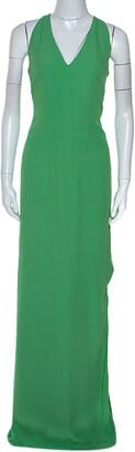 Boss By Hugo Boss Green Sleeveless V-Neck Dallisia Maxi Dress S
