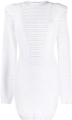 Balmain knitted short dress