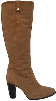 Massimo Dutti Camel Suede Boots