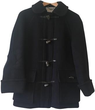 Aquascutum London Navy Wool Coat for Women Vintage