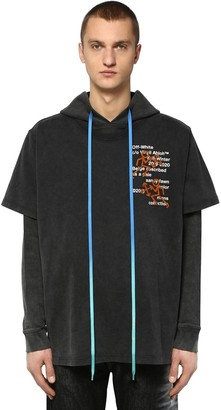 Off-White Hooded Double Cotton Jersey T-shirt