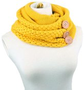 HANYI Winter Warm Two Circle Cable Knit Cowl Neck Scarf