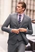 Mens Next Grey Slim Fit Check Suit: Jacket - Grey