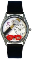 Whimsical Watches Women's S0610015 Ophthalmologist Black Leather Watch