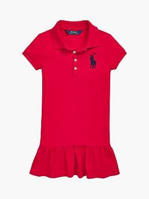 Ralph Lauren Polo Girls' Polo Dress, Red
