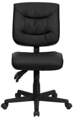Embroidered Mid-Back Black Multifunction Swivel Ergonomic Task Chair Flash Furniture Arms: No Arms
