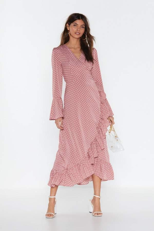Nasty GalNasty Gal Womens Dot To Have Your Love Polka Dot Midi Dress - Pink - S, Pink
