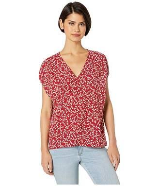 Kensie Meadow Floral Cap Sleeve Top KS5K4807