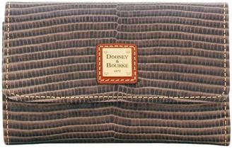 Dooney & Bourke Embossed Lizard Flap Wallet