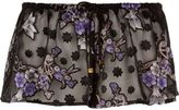 River Island Womens Black sheer jacquard print pajama shorts