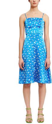 HVN Atlanta Button Front Strappy Dress