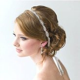 Fashion Rhinestones Bridal Headband Crown, Wedding Belt Sash or Headwrap