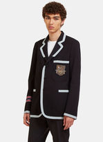 Gucci Men's Crested Marine Jacket In Navy