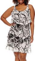 Robbie Bee Sleeveless 5-Tier Sheath Dress
