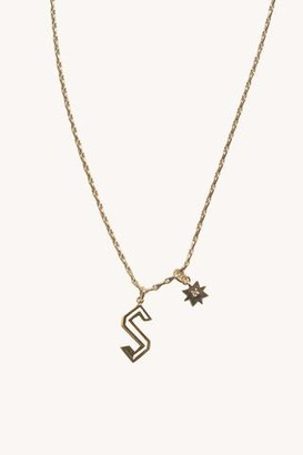 """Rebecca Minkoff S"""" Cut-out Initial Necklace"""""""