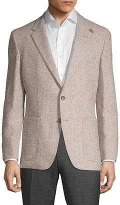 HUGO BOSS Plaid Wool Blend Sportcoat