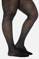 Fashion to Figure Double Diamond Patterned Tights