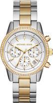 Michael Kors MK6474 gold-plated pavé watch
