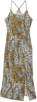 Abound Ruched Side Tie Midi Dress