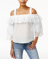 Endless Rose Cotton Cold-Shoulder Top