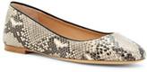 Diane von Furstenberg Printed Python Leather Cambridge Flat