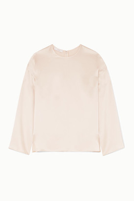Vince Silk-satin Blouse - Cream