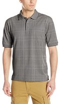 Haggar Men's Short Sleeve Pique Knit Polo