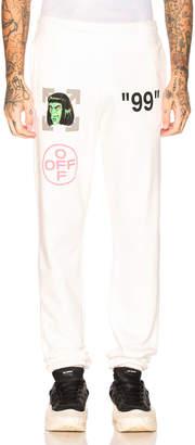 Off-White Green Man Sweatpants in Off White Multi   FWRD