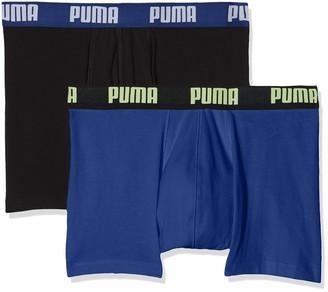 Puma Men's Basic Boxer 2p Swim Trunks