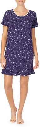 Kate Spade scatter dot ruffled sleep shirt