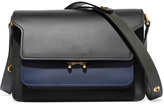 Marni Trunk Leather Shoulder Bag - Black