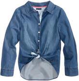 Tommy Hilfiger Tie-Front Denim Shirt, Big Girls (7-16)