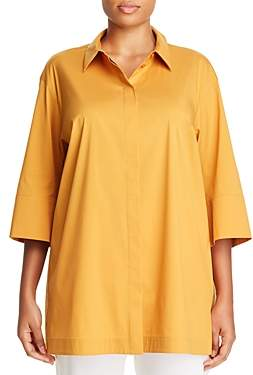 Lafayette 148 New York Plus Wade Collared Tunic Blouse