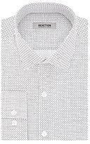 Kenneth Cole Reaction Men's Slim Fit Check Print Spread Collar Dress Shirt