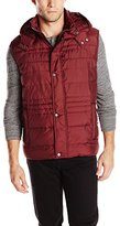 Andrew Marc Men's Decker Ultra Down Vest with Removable Hood