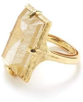 Oscar de la Renta Rutilated Quartz Ring