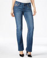 Project Indigo Juniors' Embellished Bling Bootcut Jeans