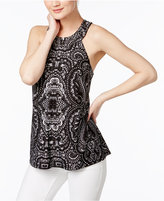 INC International Concepts Printed T-Back Halter Top, Only at Macy's