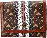 Burberry Lancaster Monogram Motif E-Canvas & Leather Wallet