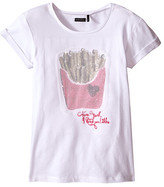 Ikks Tee with Sequined French Fries on Front (Little Kids/Big Kids)