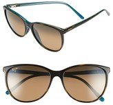 Maui Jim Women's Ocean 57Mm Polarizedplus2 Sunglasses - Grey Tortoise Stripe/ Grey