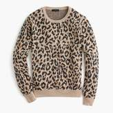 J.Crew Merino crewneck sweatshirt in cheetah