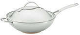 "Anolon 12.5"" Nouvelle Covered Stir Fry Pan with Helper Handle"